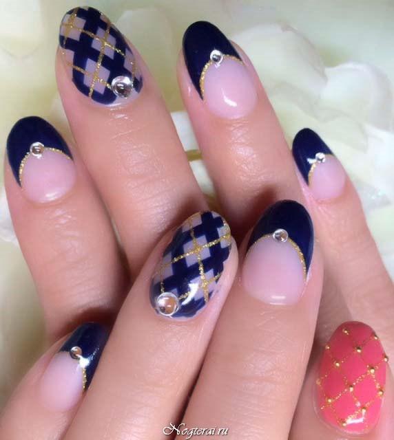 Дизайн темного дизайна ногтей