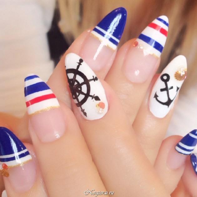 Якорь дизайн ногтей