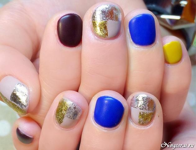 маникюр на короткие ногти 2016