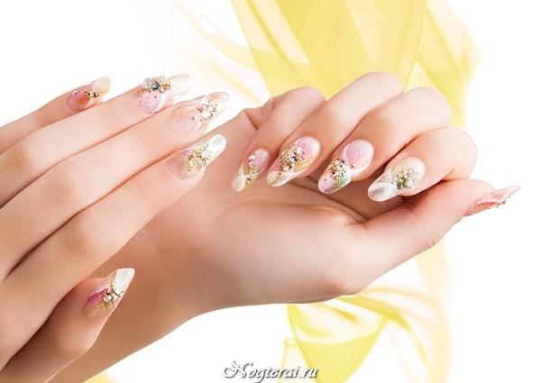 Маникюр дизайн ногтей осень