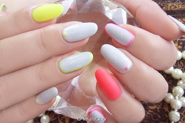 Белого цвета на одном или двух ногтях