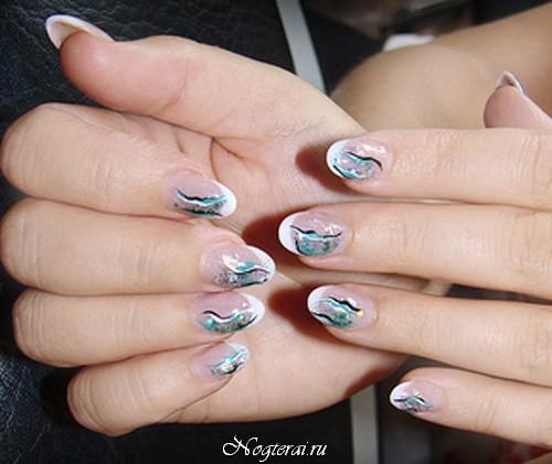 Округлая форма ногтей