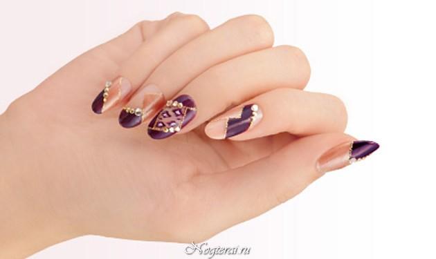 Шеллак на короткие ногти осень 2015