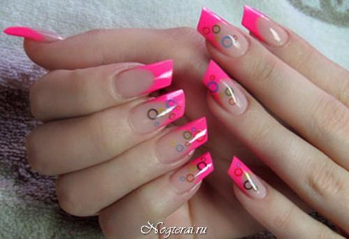 Скошенные ногти