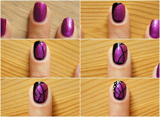 Как нарисовать на ногтях бабочку