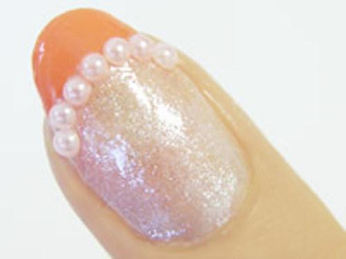 Простой рисунок на ногтях: френч поэтапно