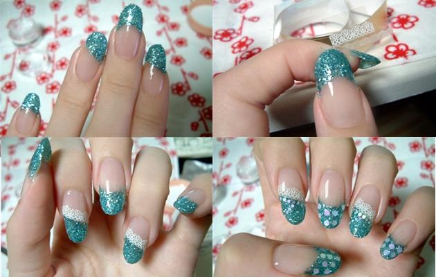 Кружево на ногтях