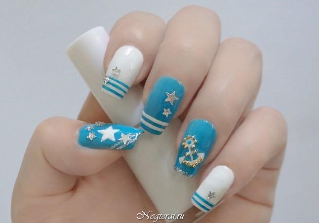 Морской дизайн ногтей фото своими руками