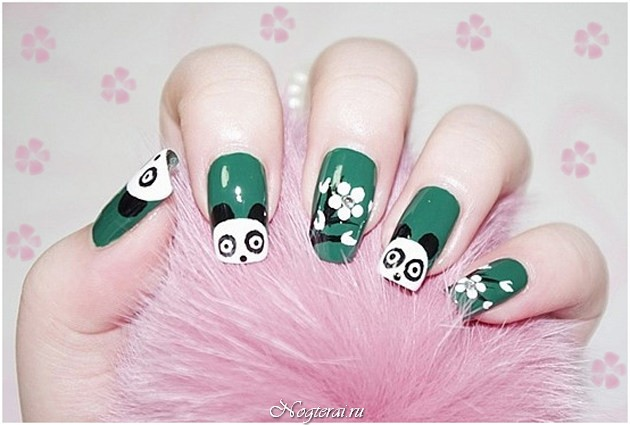 рисунки на ногтях поэтапно: