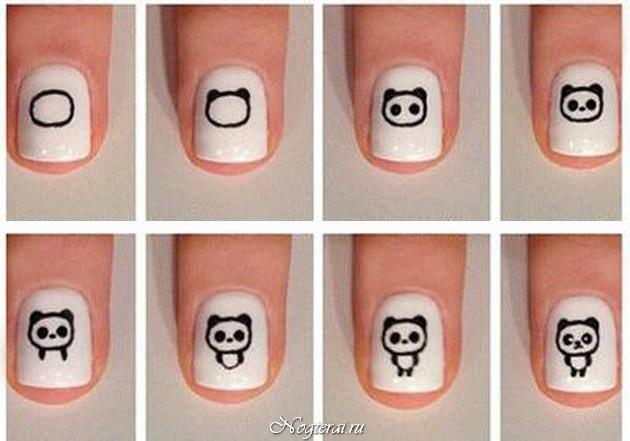 Как нарисовать на ногтях лицо