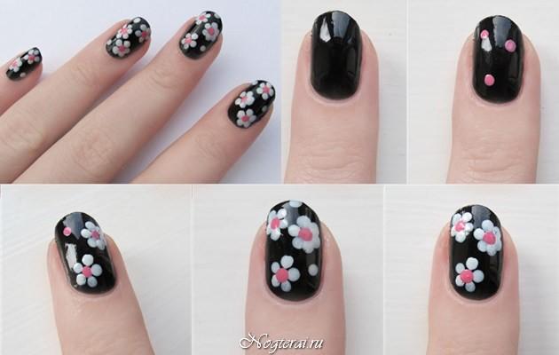 Как рисовать лаком на ногтях
