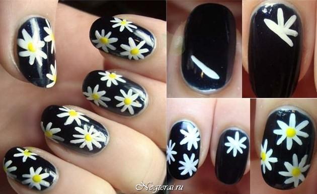 Рисуем апельсин на ногтях пошагово