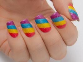 Радуга на ногтях создание красочного